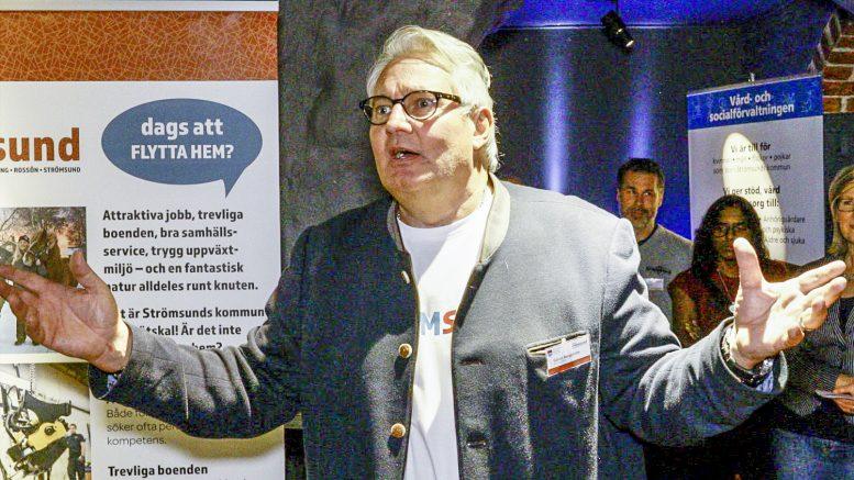 Kommunalrådet Göran Bergström var nöjd med evenemanget Heja Strömsund. Foto: Sten Strömgren.