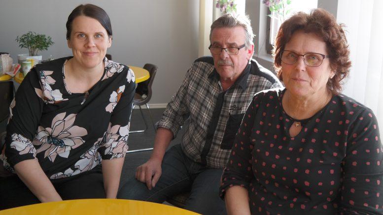 Leena, Stig och Mirja Berg – delar av familjeföretaget.