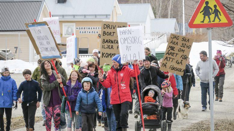 Föräldrarna i Norråker fortsätter kämpa för förskolan. Foto: Privat
